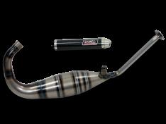 Aprilia RS 125 Gianelli compleet uitlaatsysteem met carbon demper