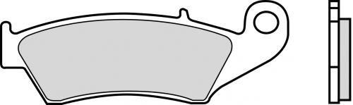 Gesinterde RACE remblokken voorzijde 07KA17SX