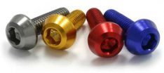 ALUMINUM M6 TAPER BOLTS 20MM TITANIUM COLOR 4PCS
