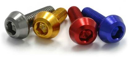 ALUMINUM M6 TAPER BOLTS 20MM TITANIUM COLOR 20PCS