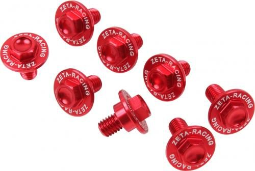 Fork guard bolt set    Red/ Rood