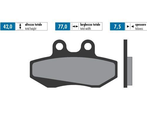 Brake pads FRONT Aprilia / Derbi (upside down)