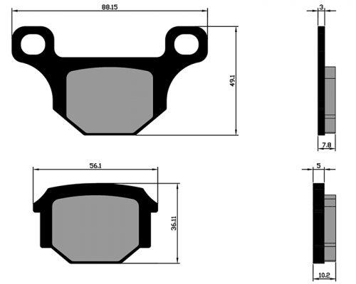 Brake pads Aprilia 125 RS-4 2006-