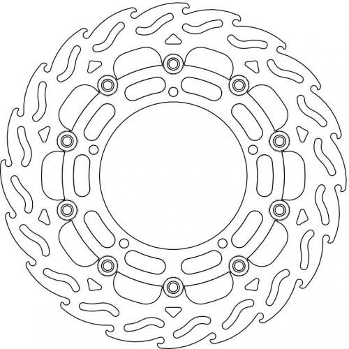 FLAME FLOATING ALU DISC 310 RIGHT FRONT