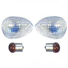 Set turningsignal with blue bulbs
