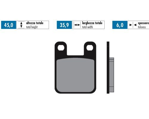 Polini Brake Pads Sinter REAR