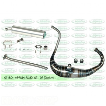 Jollymoto Exhaust ALU 0114 RS 50 80cc (D50B engine)