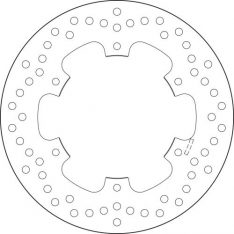 BREMBO BRAKE DISC REAR Yamaha DT 125 92-96