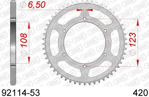 AFAM Sprocket REAR STEEL 92114-53