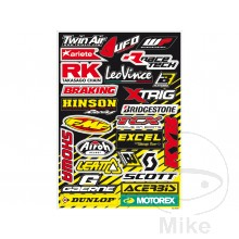 SPONSOR LOGO STICKER MIXED BRANDS 50x35 cm