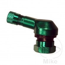 TYRE VALVE ALUMINIUM GREEN 11.3MM (Fits practicaly all sports bikes)