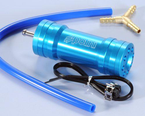 Polini Gas recovery Chamber Blue Piaggio (universal 2 stroke)