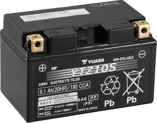 YUASA YTZ10S (WET) Battery Honda CBR 600RR '03-'17