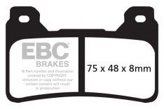 EBC Sintered Brakepads Front FA 390HH Honda CBR 600RR '05-'17