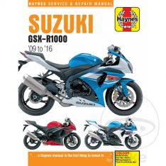 HAYNES Repair Manual Suzuki GSXR 1000 '09-'16