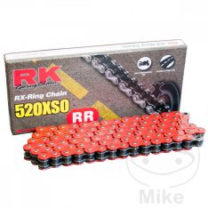 RK X-RING CHAIN RED 520XSO/112 links with hollow rivet link