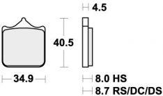 870DS-1 BRAKE PADS SINTER RACING