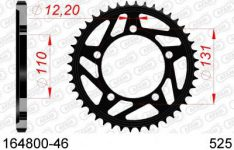 SPROCKET REAR STEEL 46T 525