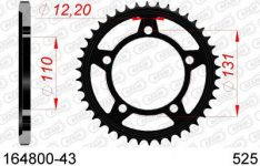SPROCKET REAR STEEL 43T 525