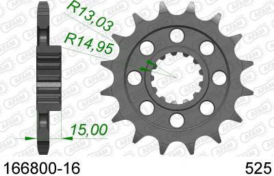 SPROCKET FRONT 16T 525
