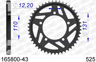 SPROCKET REAR ALU 43T 525