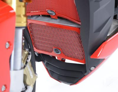 OIL COOLER GUARD RED